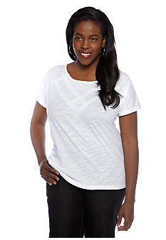 Jones New York Sport Plus Size Boxy Body Tee