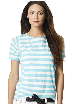Jones New York Sport Striped Boxy Tee