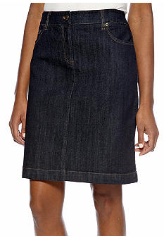 Jones New York Sport Slim Denim Skirt
