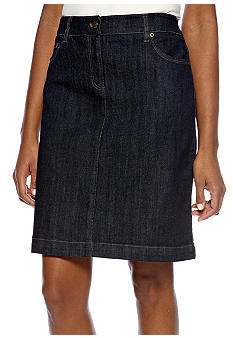 Jones New York Sport Petite Slim Denim Skirt