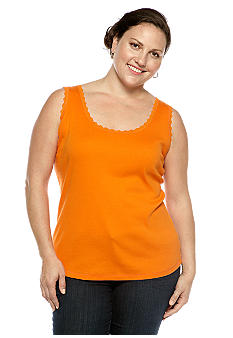 Jones New York Sport Plus Lace Trim Tank