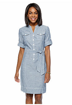 Jones New York Sport Lightweight Chambray Dress