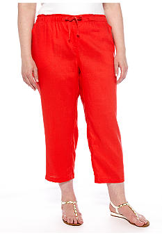 Jones New York Sport Plus Linen Crop Pant