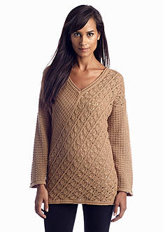 Jones New York Sport Textured V-Neckline Sweater
