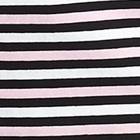Women's T-shirts: Black Multi Jones New York Sport Boat-Neck Striped Tee