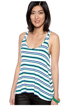 Red Haute Stripe Swing Racerback Tank