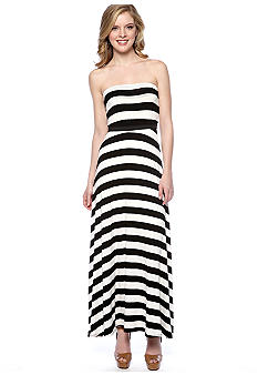 Red Haute Stripe Maxi Dress