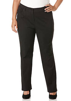 Rafaella Plus Size Ridge Twill Pant