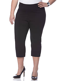 Shorts & Capris: Plus Size Black Capris & Skimmers | Belk