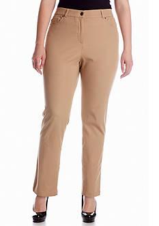 Rafaella Plus Size Ridge Twill Pant