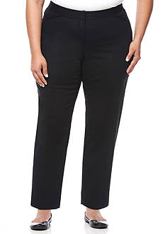Rafaella Plus Size Double Weave Ankle Pants