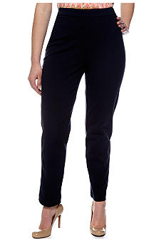Rafaella Form + Function Plus Size Solid Ponte Pull On Pant