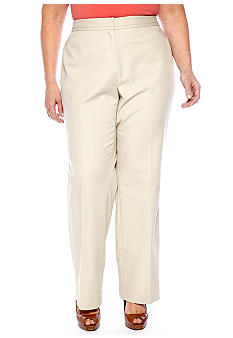 Rafaella Form + Function Plus Size Double Weave Straight Leg Pant
