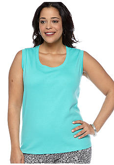 Rafaella Form + Function Plus Size Ribbed Knit Tank