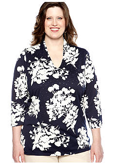 Rafaella Form + Function Plus Size Printed Tunic