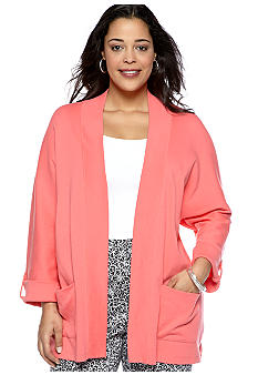 Rafaella Form + Function Plus Size Open Front Cardigan