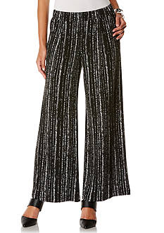 Rafaella Petite Wide Leg Printed Soft Pants
