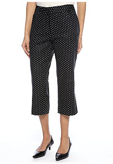 Rafaella Form + Function Petite Classic Fit Mini Dot Capri