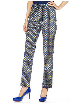 Rafaella Form + Function Petite Printed Slim Ankle Pants