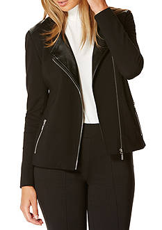 Rafaella Petite Size Leather Moto Jacket