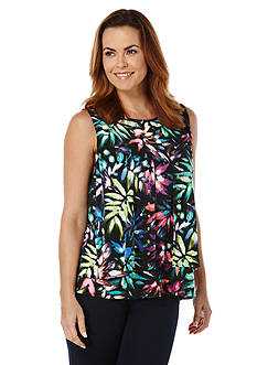 Rafaella Petite Layered Printed Tank Top