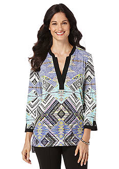 Rafaella Petite Tribal Diamond Tunic
