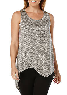 Rafaella Petite Size Hammer Layer Envelope Hem Top