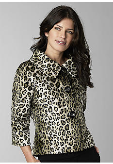Rafaella Form + Function Animal Printed Faux Fur Jacket - B