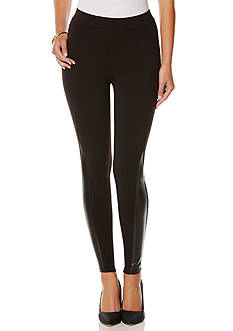 Rafaella Faux Leather Ponte Leggings