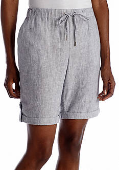 Rafaella Railroad Stripe Short