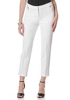 Rafaella Zipper Detailed Skinny Ankle Pants