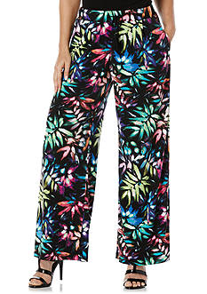 Rafaella Pull On Pleated Print Pants