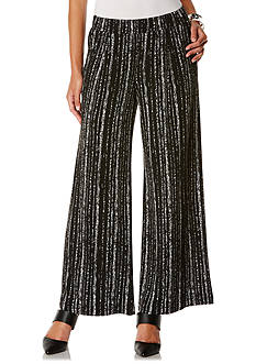 Rafaella Pull On Stripe Wide Leg Pants