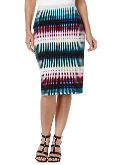 Rafaella Printed Tube Skirt