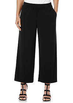 Rafaella Wide Solid Crop Pants