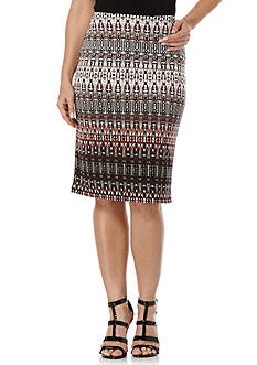 Rafaella Tribal Gradient Skirt