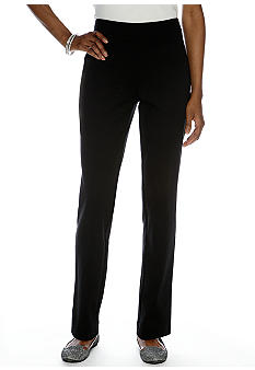 Rafaella Form + Function Solid Ponte Pull On Pant