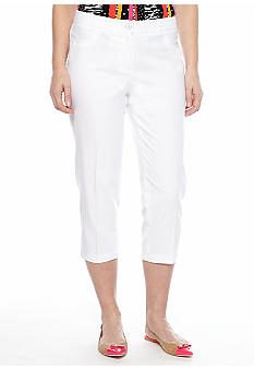 Rafaella Form + Function Classic Fit Polished Denim Capri