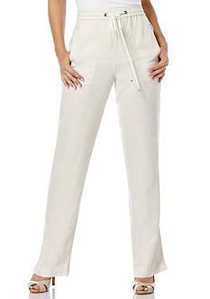 Rafaella Solid Linen Pants