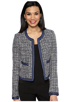 Rafaella Form + Function Open Front Tweed Jacket