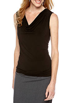 Rafaella Drape Cowl Neck Top