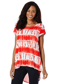 Rafaella Summer Tie Dye Print Top