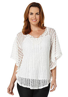 Rafaella Lace Caftan Top
