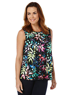 Rafaella Layered Printed Top