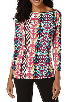 Rafaella Tribal Trails Printed Top