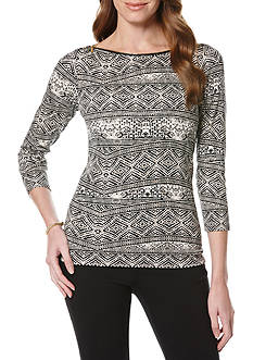 Rafaella Graphic Knit Top