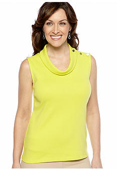 Rafaella Form + Function Sleeveless Cowl Neck Tank