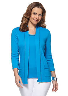 Rafaella Solid Knit Cardigan