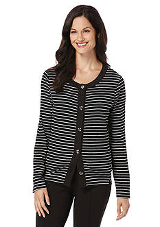 Rafaella Striped Cardigan