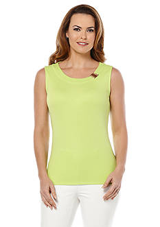Rafaella Rib Tank With Bar